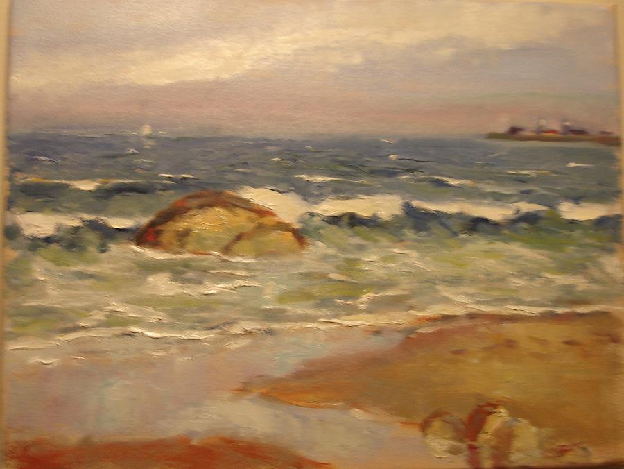 Seascape Painting - Scarborough Beach by Tom Martino