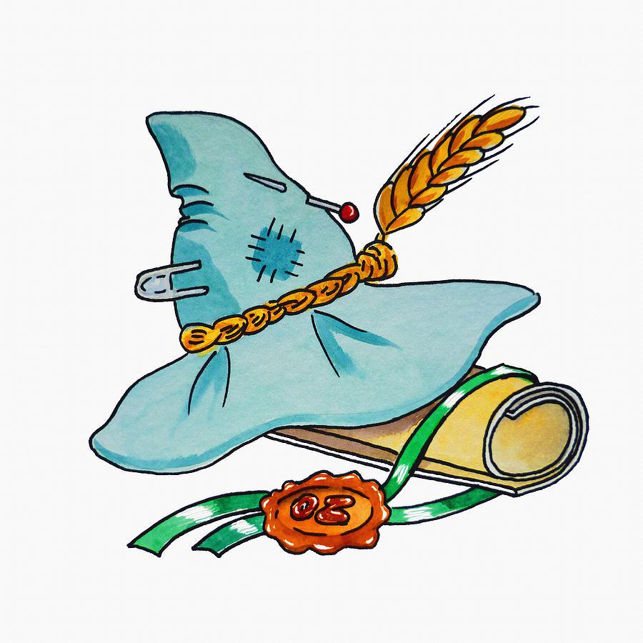 Wizard Of Oz Painting - Scarecrow Hat From Wizard Of Oz by Irina Sztukowski