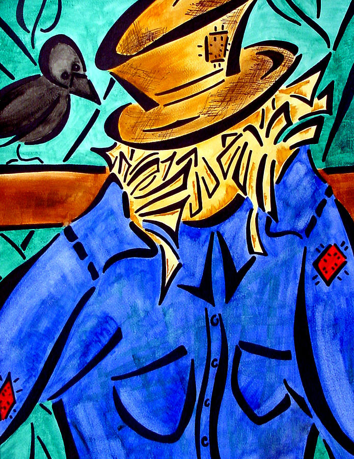 Scarecrow Painting - Scarecrow by Meilena Hauslendale
