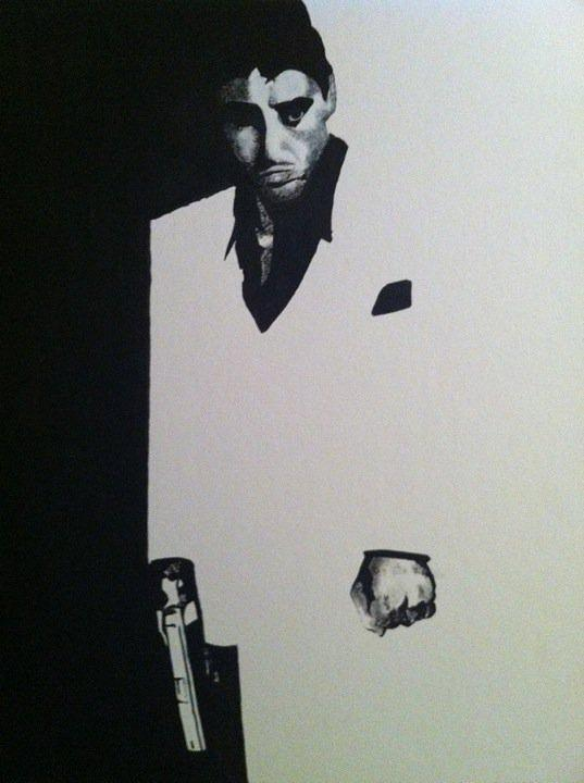 Scarface Painting - Scarface  by Davor Sintic