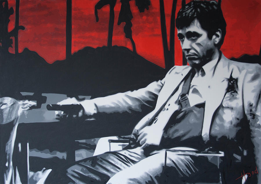 Scarface Painting - Scarface - Sunset 2013 by Luis Ludzska