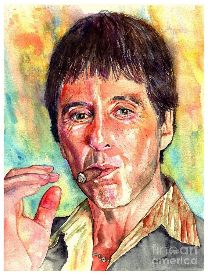 Al Pacino Painting - Scarface by Suzann Sines