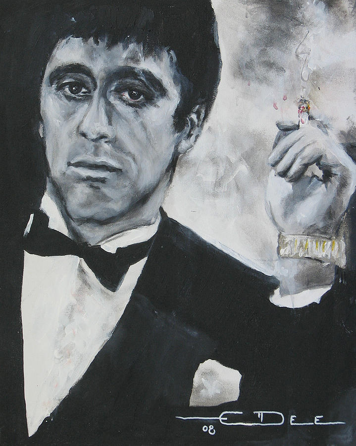 Al Pacino Painting - Scarface2 by Eric Dee