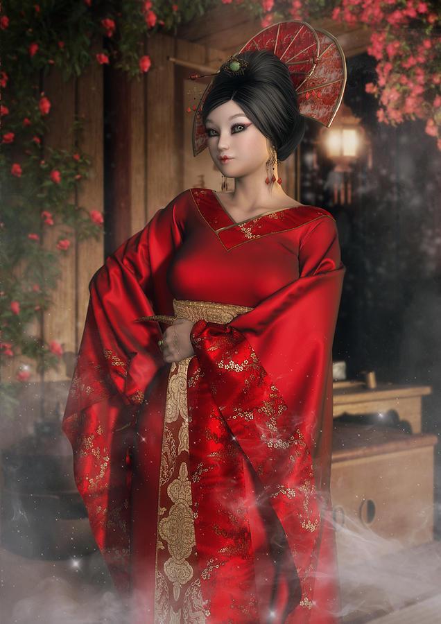 Empress Digital Art - Scarlet Empress by Rachel Dudley