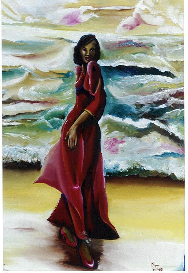 Woman Painting - Scarlet by Mitchell Dupre