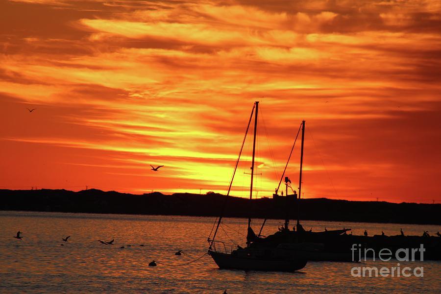 Scarlet Sunrise On Provincetown Pier 1  Photograph by Gregory E Dean