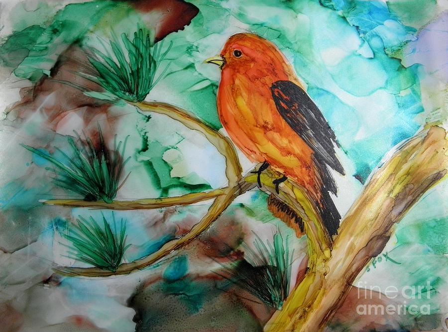 Scarlet Tanager by Sandra Fox
