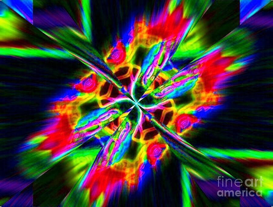 Abstract Digital Art - Scarlet Wings by Lorles Lifestyles