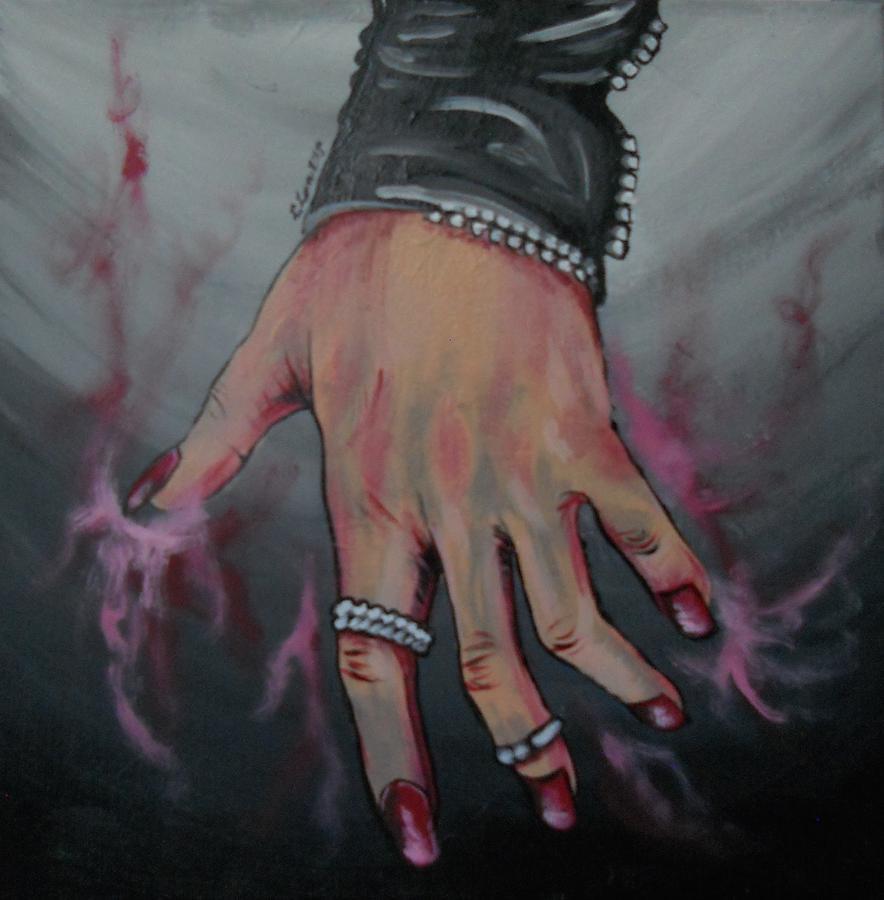 Scarlet Painting - Scarlet Witch by Lisa Leeman