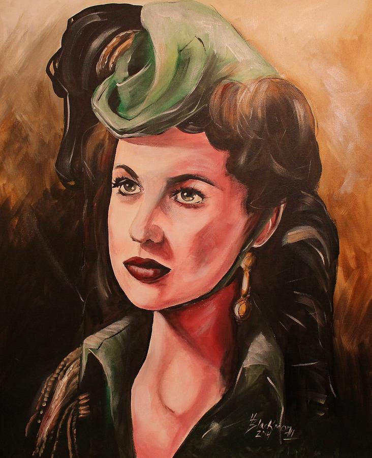 Gone With The Wind Painting - Scarlett by Henry Blackmon