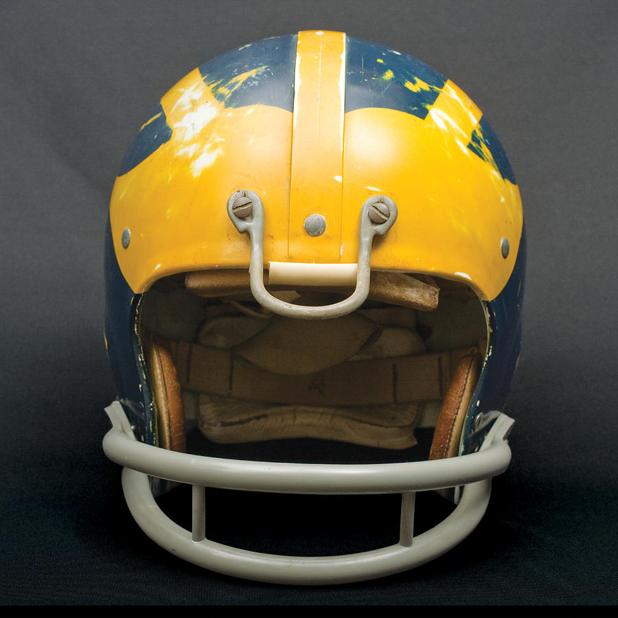 Scarred 1970s Wolverine Helmet by Michigan Helmet