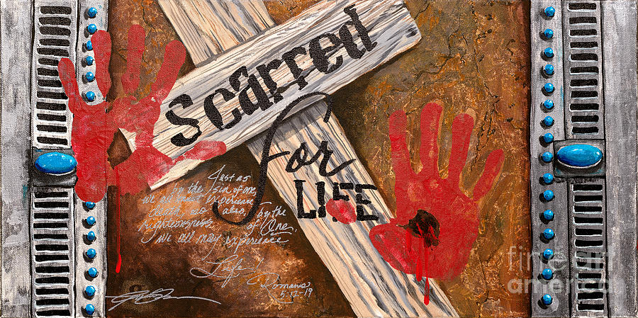 Jesus Painting - Scarred For Life by Gail Denney Shelton