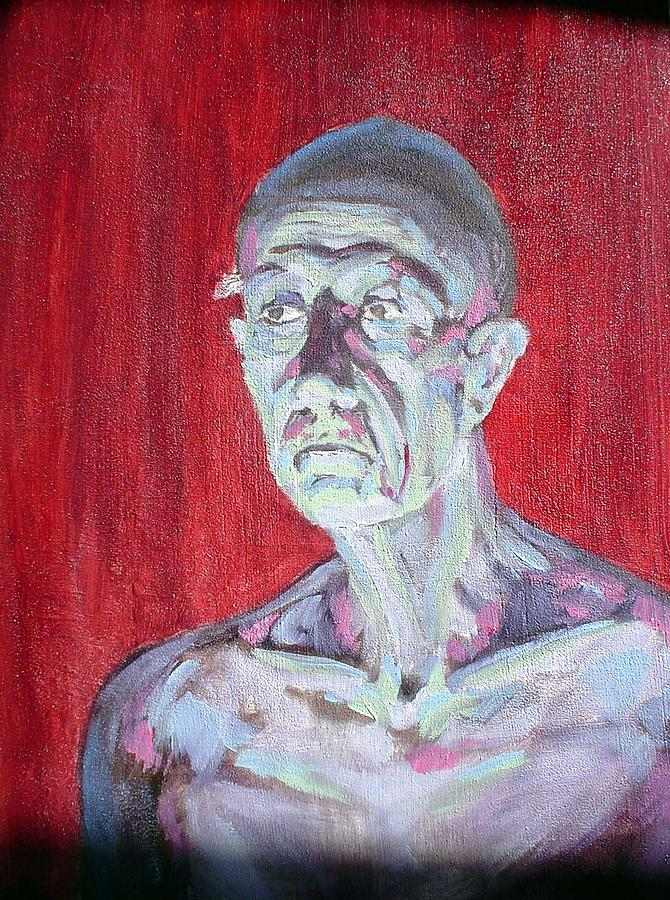 Portrait Painting - Scary Bob W.i.p. by Kathryn Mellas