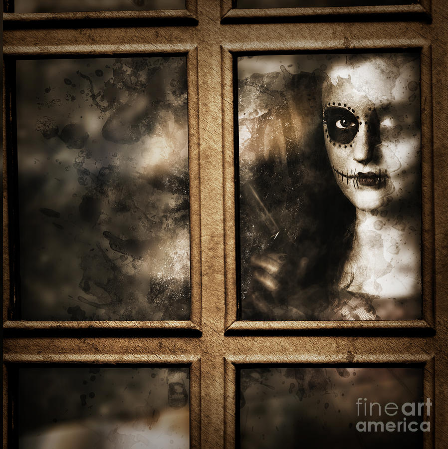 Murder Photograph - Scary Murderer Standing By The Window With Handgun by Jorgo Photography - Wall Art Gallery