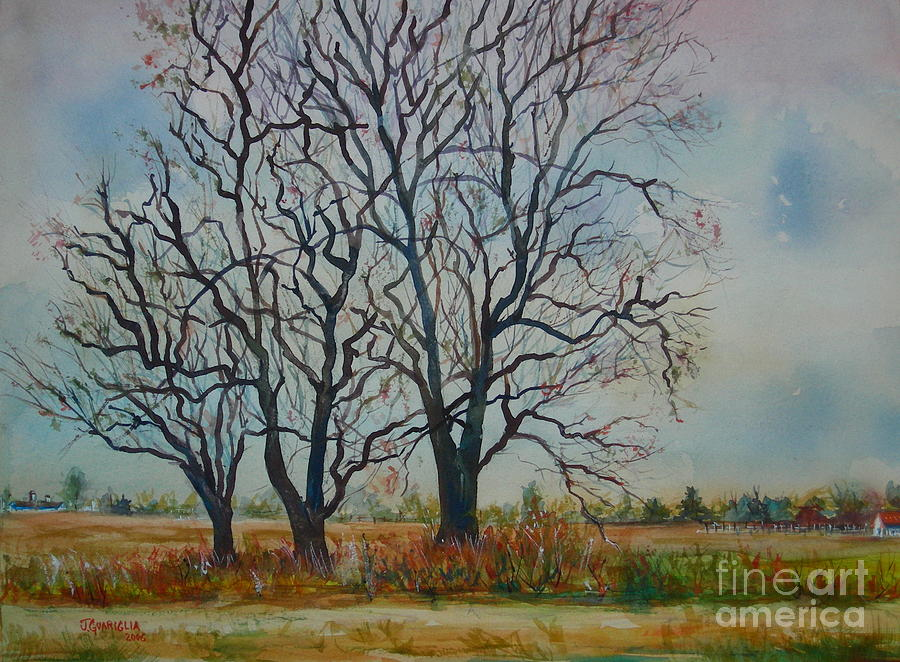 Landscape Painting - Scary Tree by Joyce A Guariglia