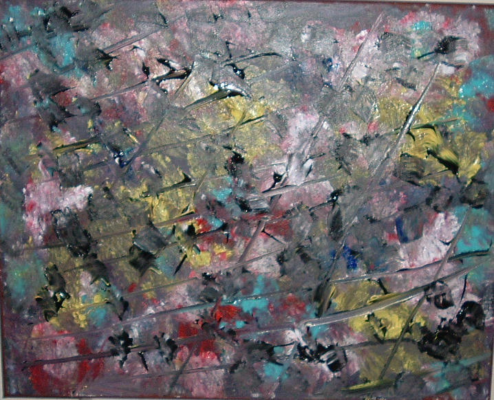Abstract Painting - Scattered Brain Matter by Lon