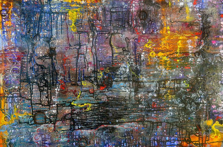 Sediments Painting - Schematics Of The Arcane by Regina Valluzzi