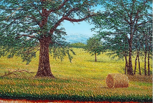 Scena Di Campo Painting by Gene  Pompa