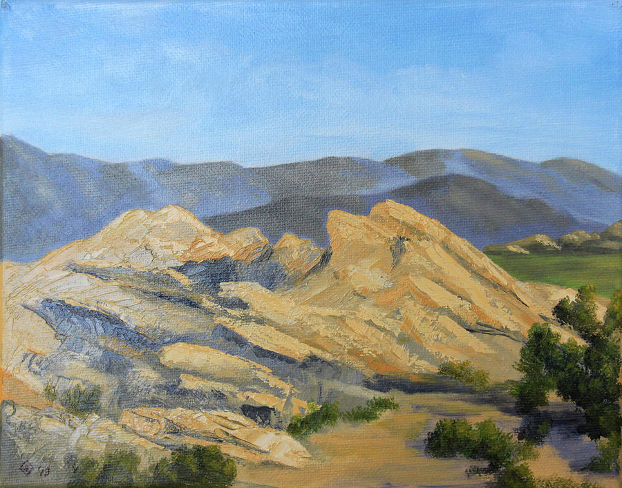 Scene at Vasquez Rocks Painting by Terry Sonntag