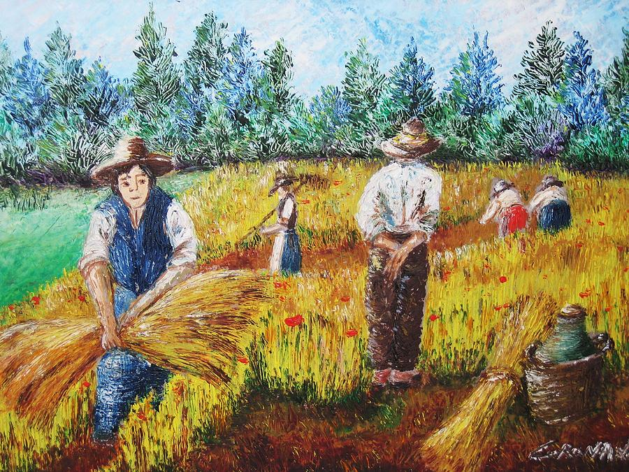 Campagna Painting - Scene Campestri N2 by  Luca Corona