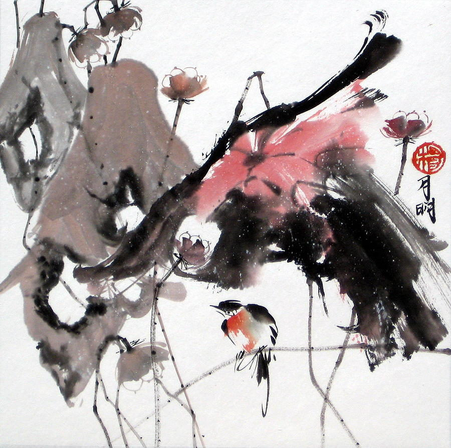 Chinese Painting Painting - Scene Of Snow by Ming Yeung