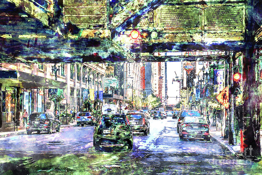City Digital Art - Scenes In The City by Phil Perkins