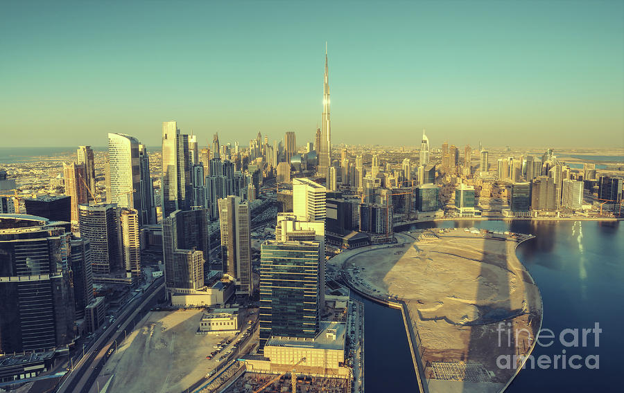 Dubai Photograph - Scenic Aerial View Of Dubai by Dmitrii Telegin