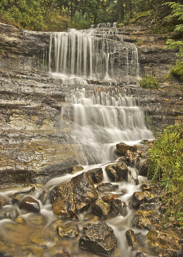 Alger Photograph - Scenic Alger Falls  by Michael Peychich