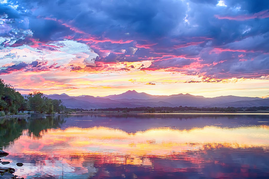 Scenic Colorado Rocky Mountain Sunset View Photograph