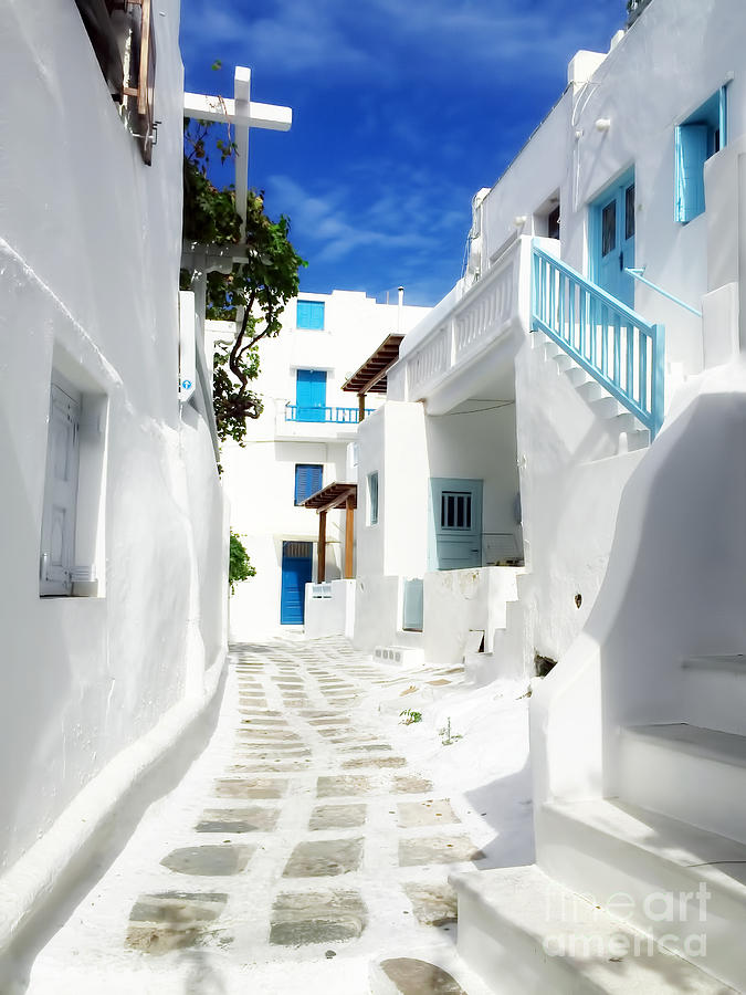Mykonos Photograph - Scenic Mykonos by HD Connelly