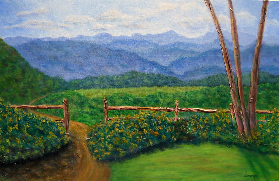 Landscape Painting - Scenic Overlook by Sandy Hemmer
