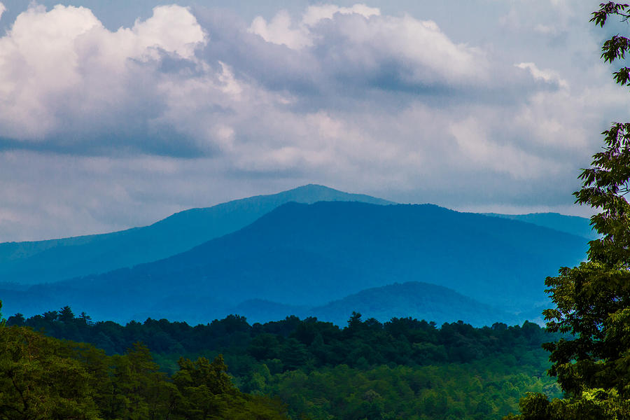 Smoky Mountains Photograph - Scenic Overlook - Smoky Mountains by Barry Jones