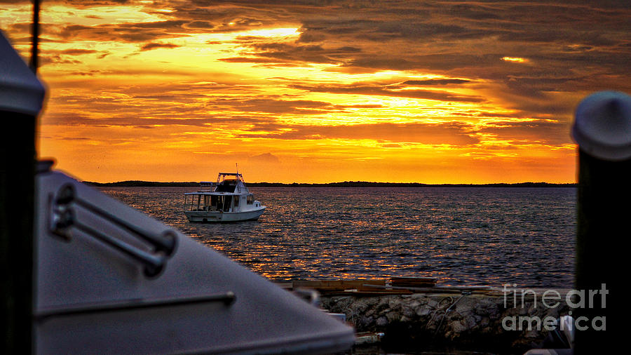Sunset Photograph - Scenic Sunset On The Keys by Dieter  Lesche