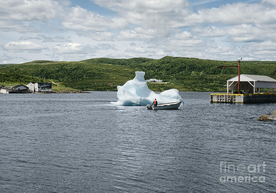 Canada Photograph - Scenic view at Red Bay harbour, Labrador by Visual Arts Gallery