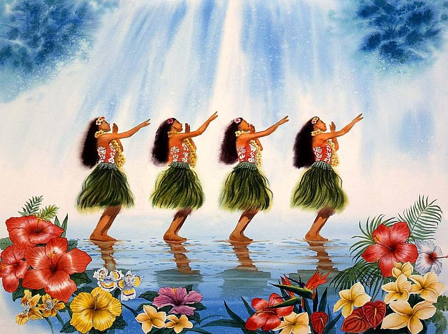 Hawaii Painting - Scent Of Paradise by John YATO
