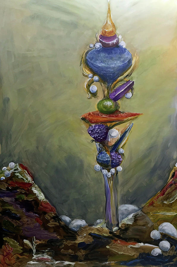 Scepter Painting - Scepter Of Destiny by Kathleen Sandoval