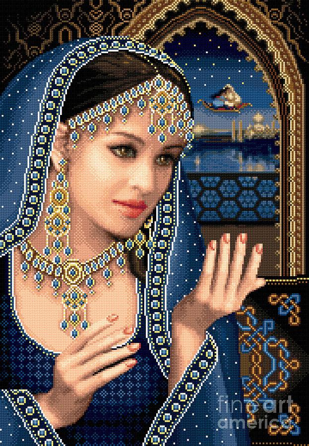 1001 Nights Tapestry - Textile - Scheherazade by Stoyanka Ivanova