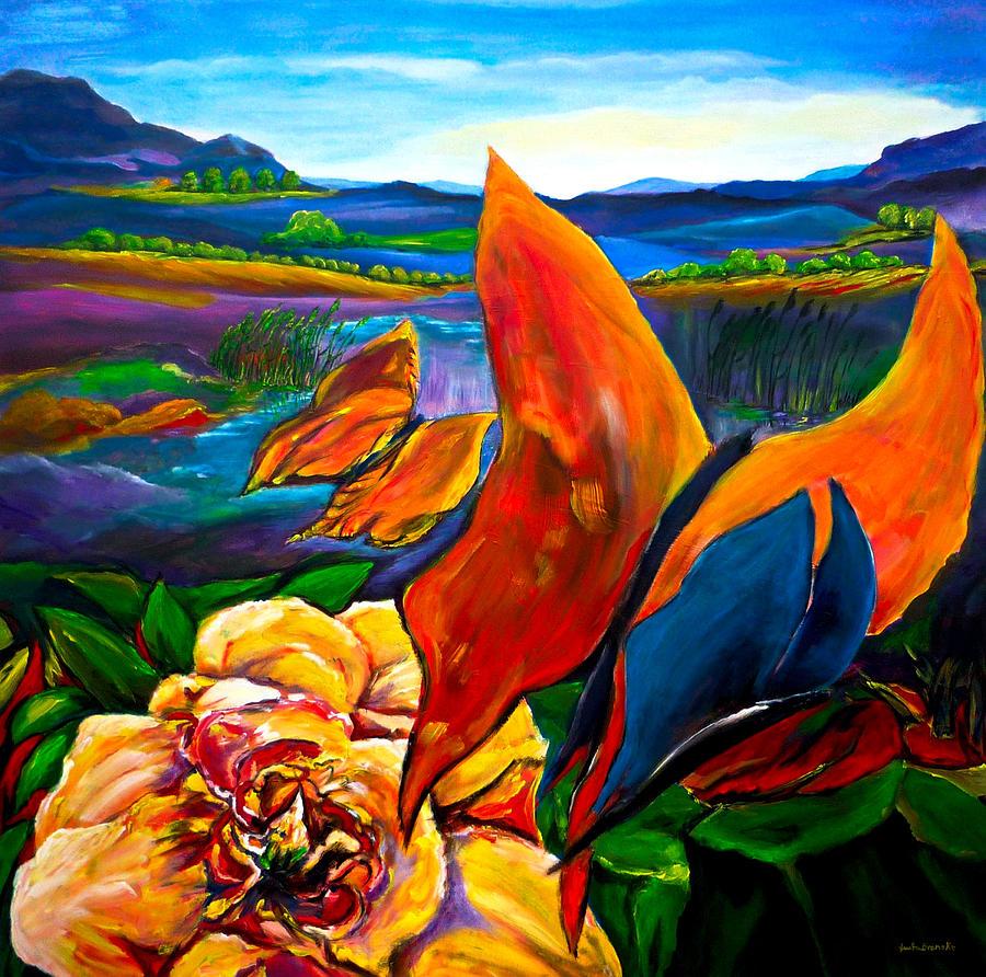 Landscape Painting - Schmetterlinge by Eberhard Schmidt-Dranske