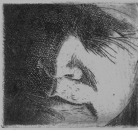 Portrait Print - Schnittke by Cynthia  Church