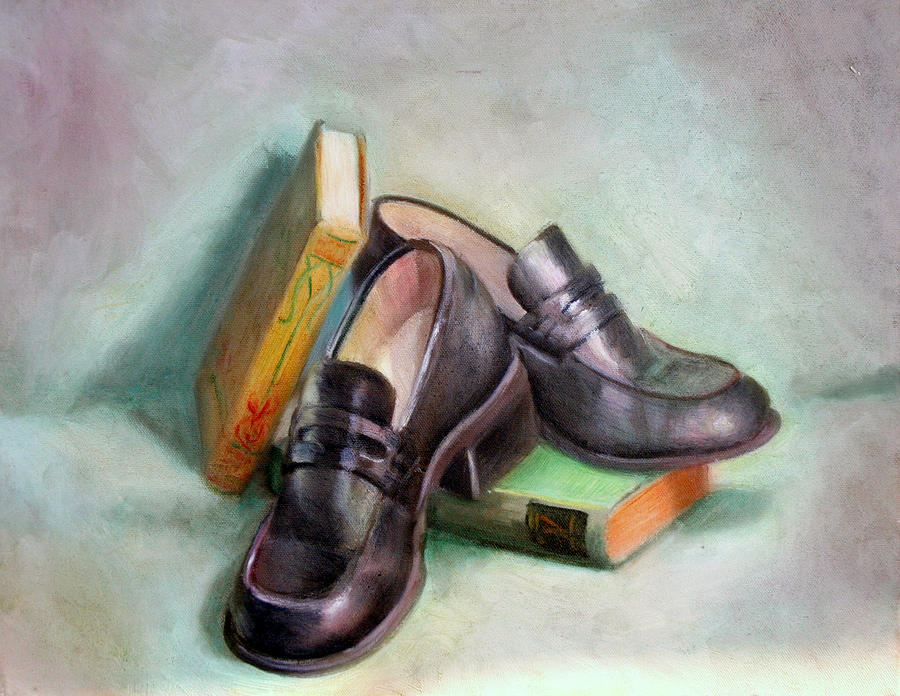 Still Life Painting - Scholar by Athena Mantle