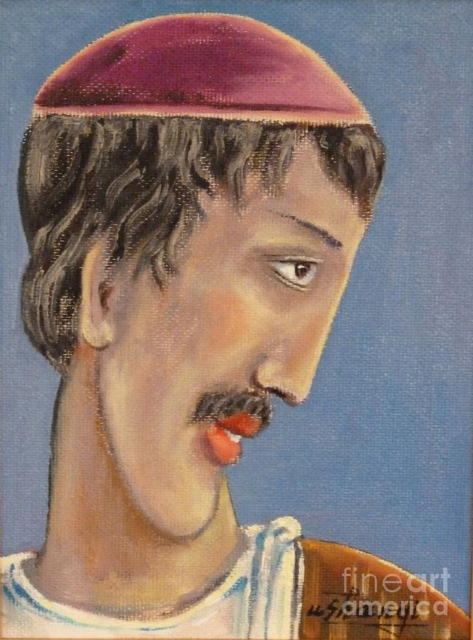 Portrait Painting - Scholar by Ushangi Kumelashvili