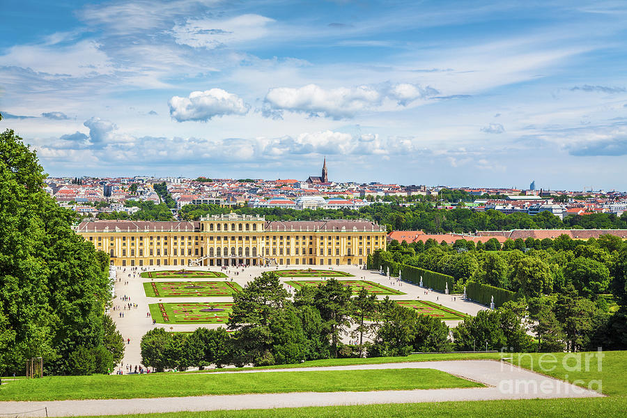 Vienna Photograph - Schonbrunn Palace by JR Photography