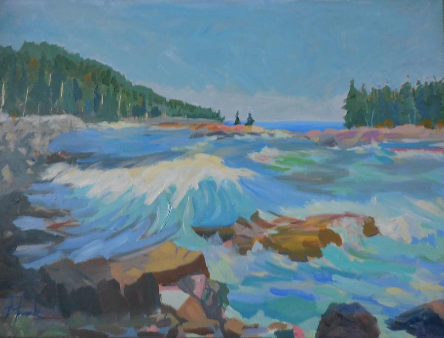 Landscape Painting - Schoodic Inlet by Francine Frank