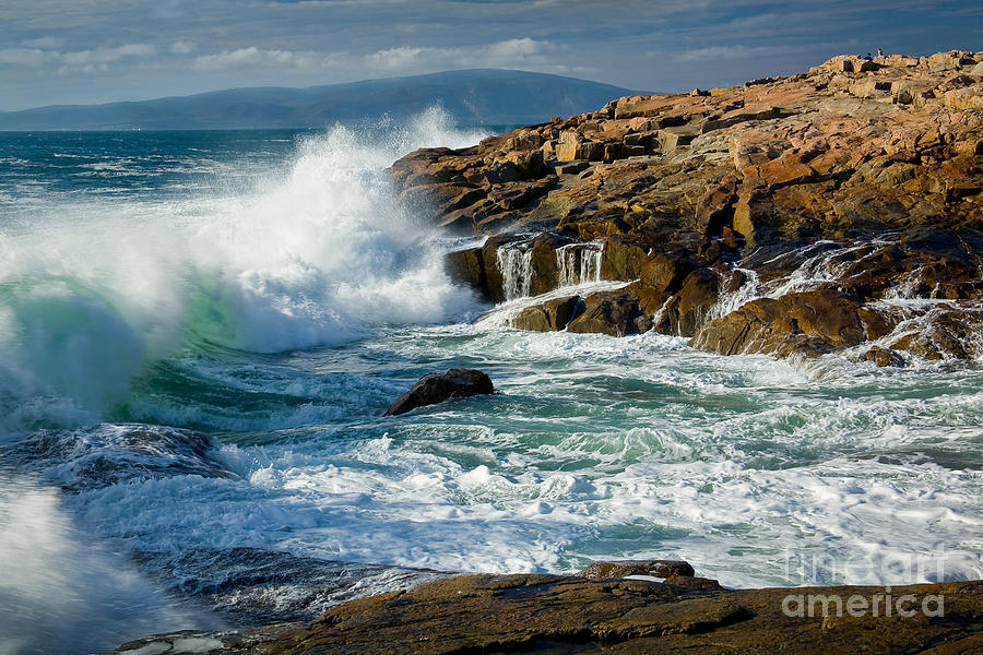 Acadia National Park Photograph - Schoodic Surf by Susan Cole Kelly