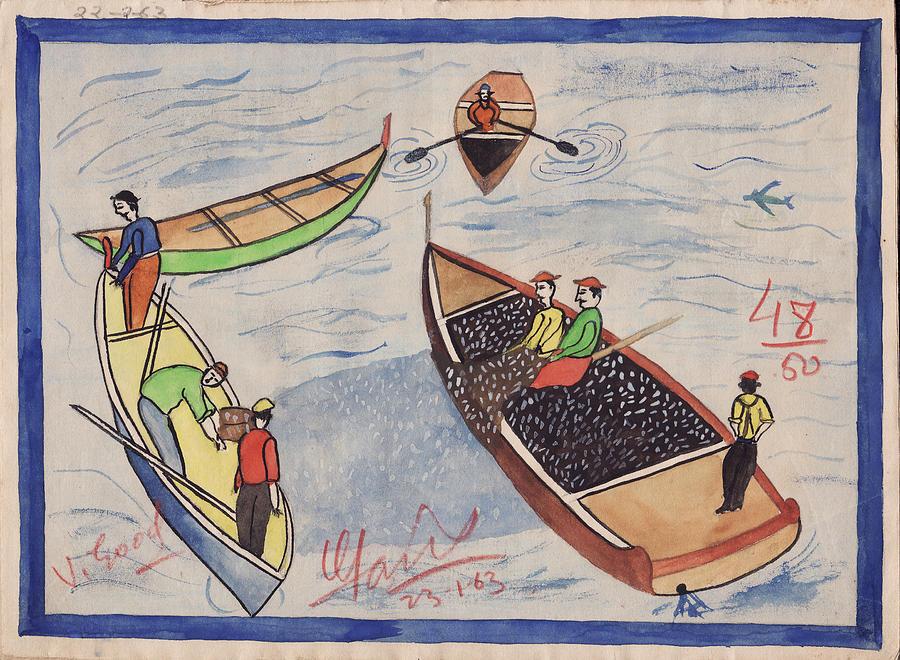 Scenery Painting - School 1963 - 102 by Mohd Raza-ul Karim