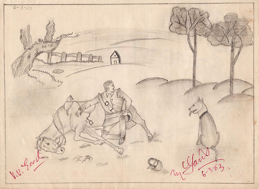 Scenery Painting - School 1963 - 104 by Mohd Raza-ul Karim