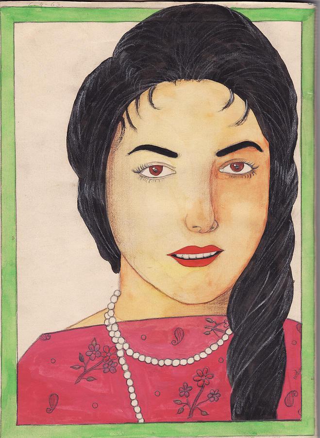 Portrait Painting - School 1963 - 106 by Mohd Raza-ul Karim
