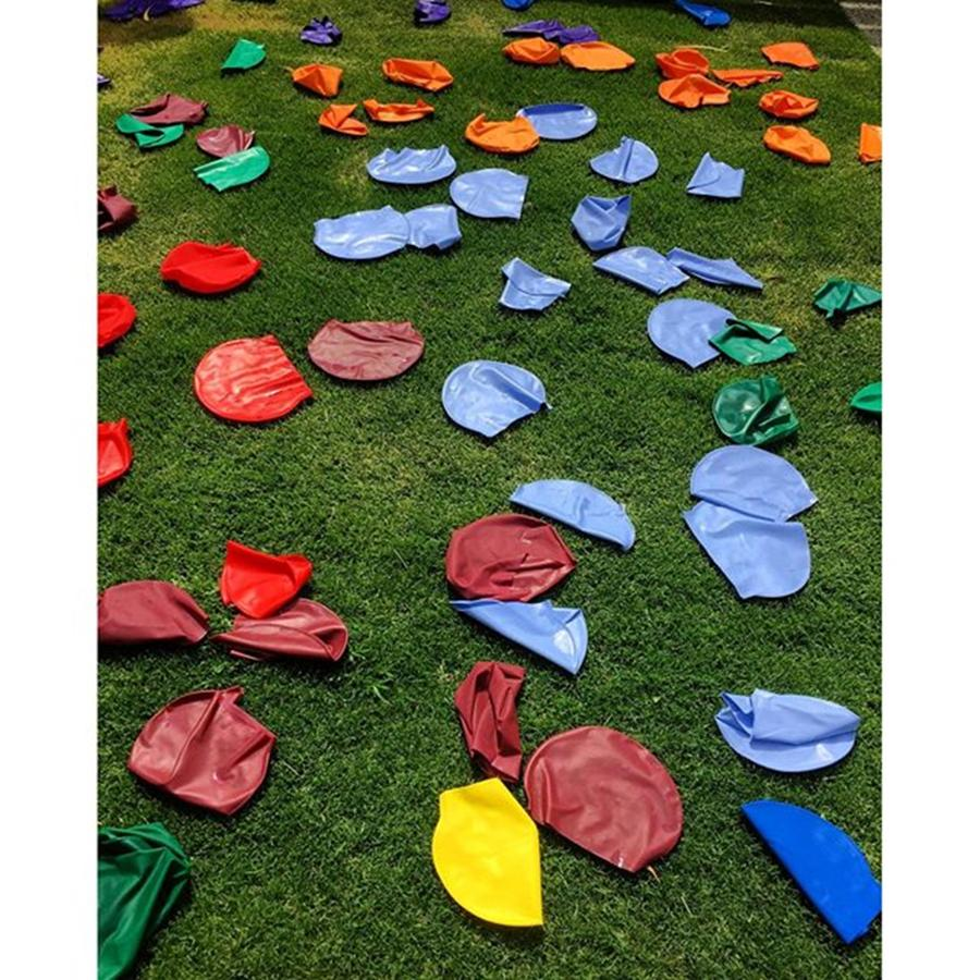 Beautiful Photograph - School Carnival Swimming Caps Left Out by Paul Dal Sasso