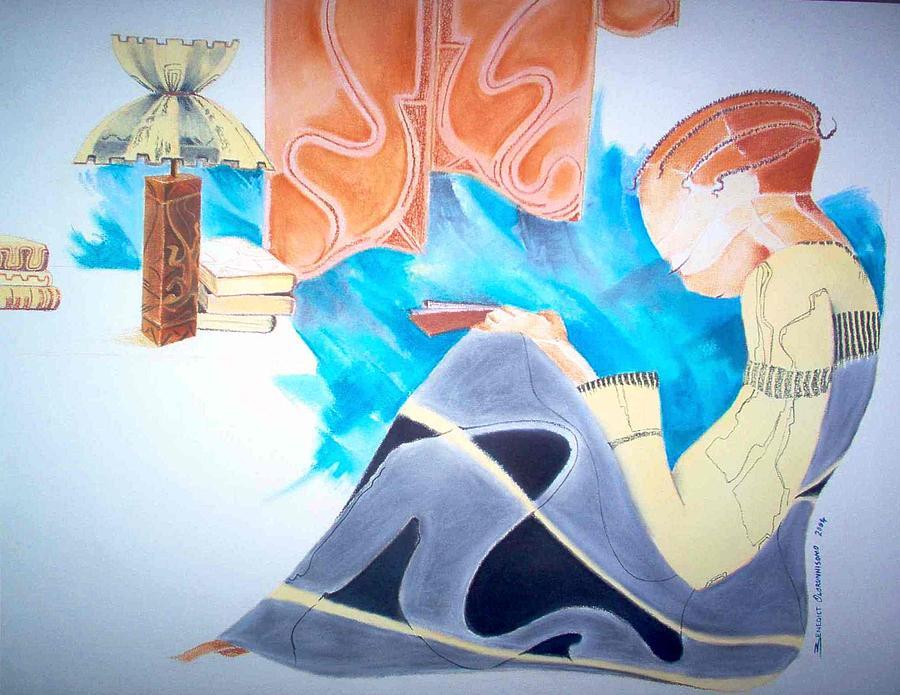School Girl Painting by Benedict Olorunnisomo