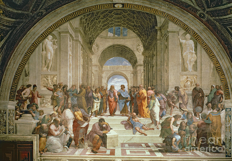 School Painting - School Of Athens From The Stanza Della Segnatura by Raphael